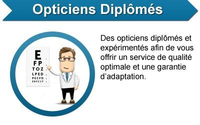 Opticiens diplomés - Des opticiens diplômés et expérimentés afin de vous offrir un service de qualité optimale et une garantie d'adaptation