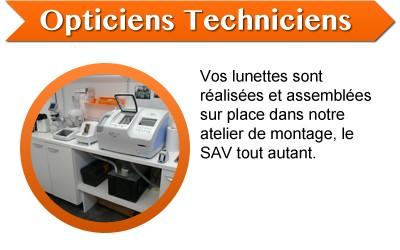 Opticiens Techniciens - Vos lunettes sont réalisées et assemblées sur place dans notre atelier de montage, le SAV tout autant.